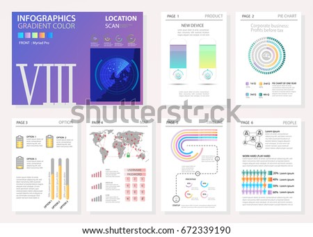 Green Black Elements Infographics On White Stock Vector