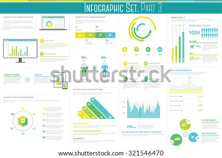 Infographic set. This infographic set is designed to help you to produce presentations, re-use graphics for compare different products, for your graphic inspirations and many more - stock vector