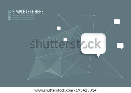 infographic speech bubble - stock vector