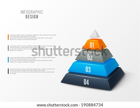 Infographic steps modern design eps10 - stock vector