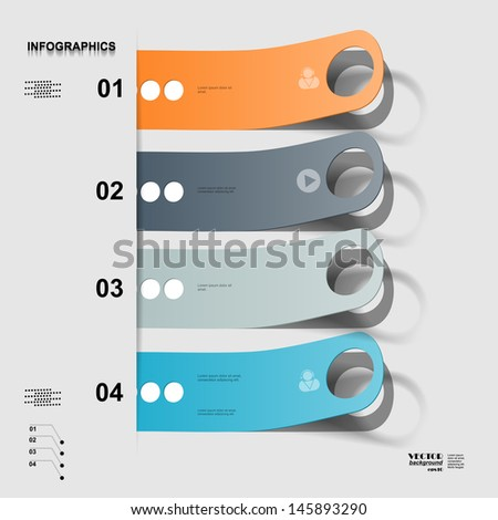Infographic, stickers, eps10 - stock vector