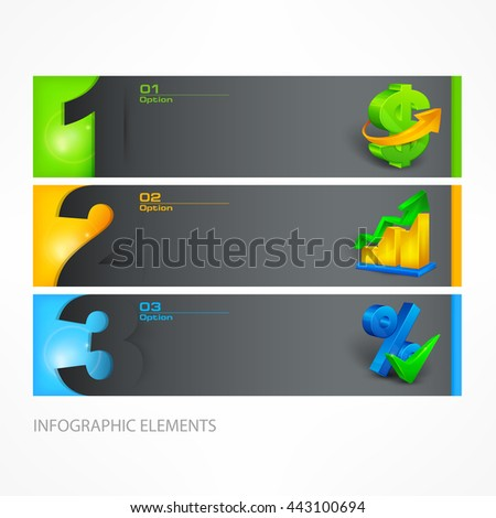 Infographic template color vector illustration - stock vector