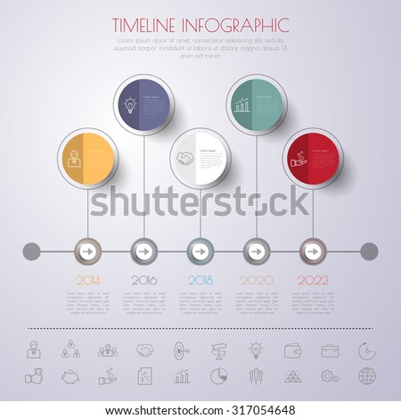 Infographic Template. Data Visualization. Can be used for workflow layout, number of options, steps, diagram, graph, presentation, chart and web design. Vector illustration. - stock vector