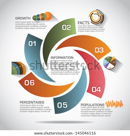 Infographic Ideas easy infographic template : Infographic Template Eps 10 Vector Grouped Stock Vector 145046116 ...