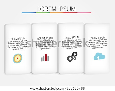 Infographic template, Eps10, vector illustration.