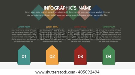 Infographic template, Eps10, vector illustration, For presentations, brochures, banners, website graphics.