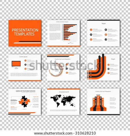 Infographic Template , Infographic Element , Business infographic , Layout design , Modern Style , Vector design illustration. Orange version - stock vector