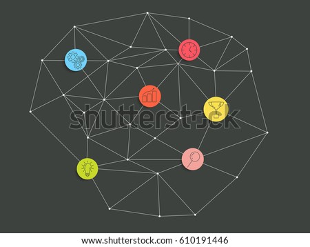 Infographic template lowpoly spider web business stock vector infographic template lowpoly spider web business diagram vector eps 10 ccuart Choice Image