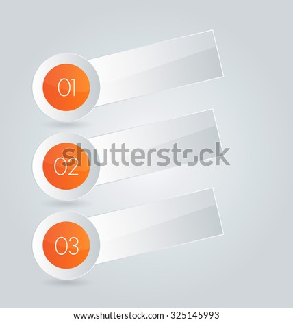 Infographic template with step options for business, startup concept, web design, data visualization, banner, brochure or flyer layouts, presentation, education. Abstract 3d stock vector illustration