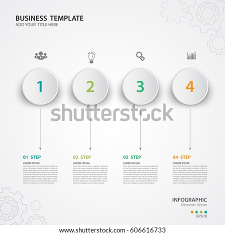 Infographic Templates Business Vector Illustration Web Stock Vector ...