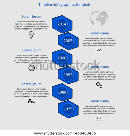 Company history infographic images for Ford motor company powerpoint template