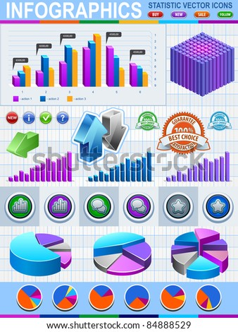 Infographic Vector Graphs and Elements - stock vector