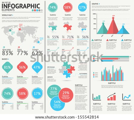 Infographic web design vector elements - stock vector