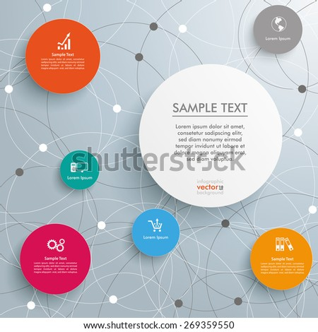 Infographic with circles on the white background. Eps 10 vector file. - stock vector