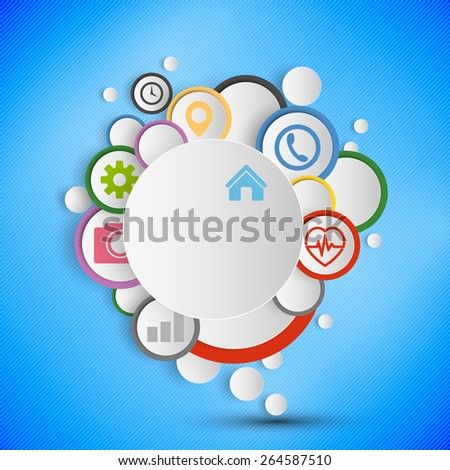 Infographic with colored circles for business, template vector - stock vector