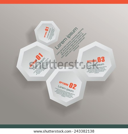 Infographic with honeycomb structure - stock vector