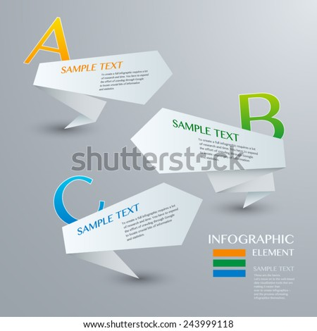 Infographic with white labels on the grey background. Eps 10 vector file - stock vector