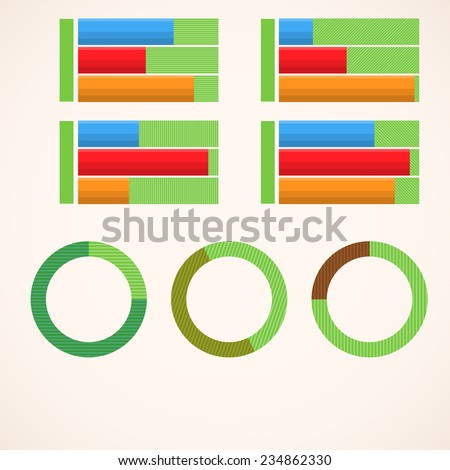 Infographic world stats 3 - stock vector