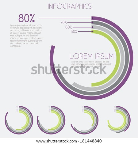 Infographics - Analysis, Charts, Data - Vector EPS10 - stock vector