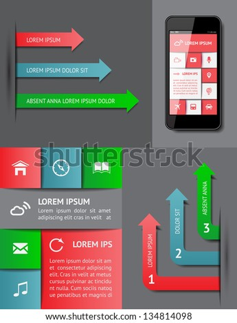 Infographics and web elements. EPS10 vector illustration. - stock vector