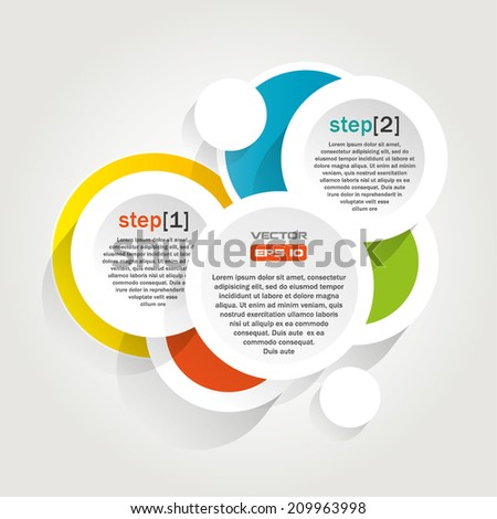 Infographics background with colorful circles - vector illustration - stock vector