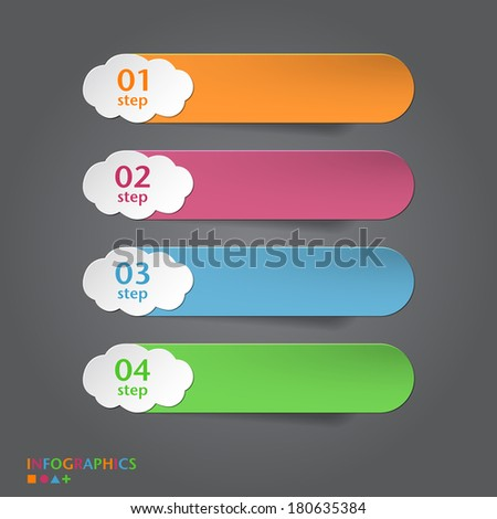 Infographics Banner, Label, Tag designs template - stock vector