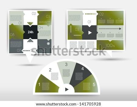 Infographics box diagrams - stock vector