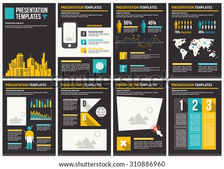 Infographics brochure elements for business data visualization. - stock vector