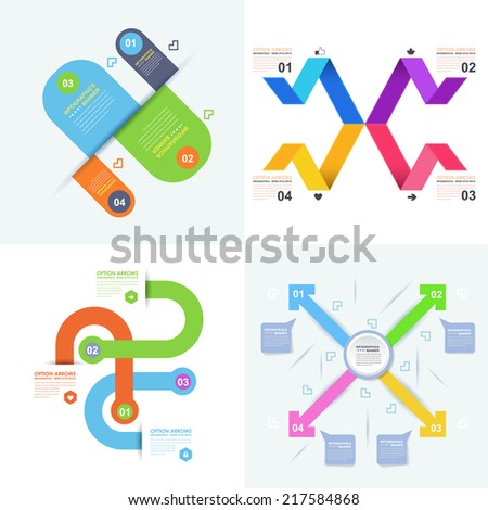 Infographics, Business Chart Template and Web Elements Collection  - stock vector