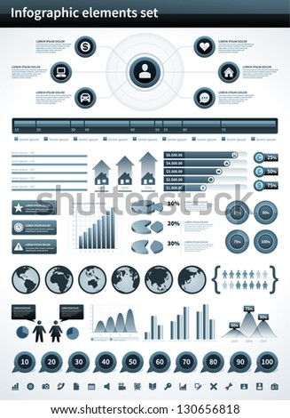 Infographics collection vector design elements - stock vector