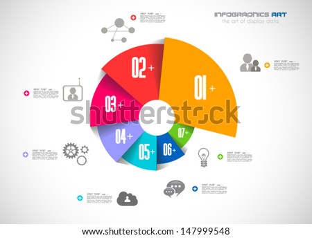 Infographics concept background to display your data in a stylish way. Clean detailaed design for stats, ranking and classifications. - stock vector