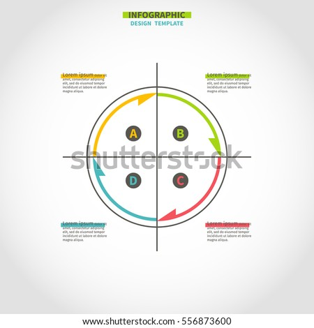Infographics Design Circle Template Made Color Stock Vector ...