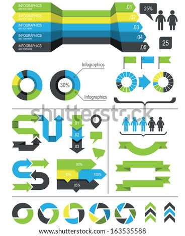 Infographics design elements and icons - stock vector