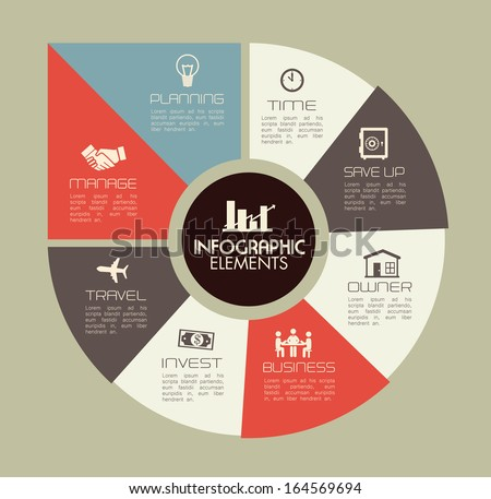 infographics design over gray background vector illustration   - stock vector