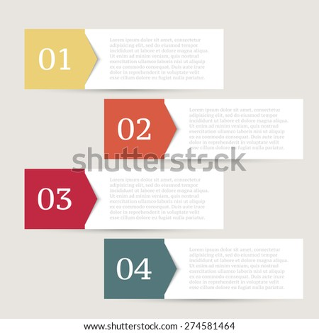 Infographics design template. Business concept with 4 options. - stock vector
