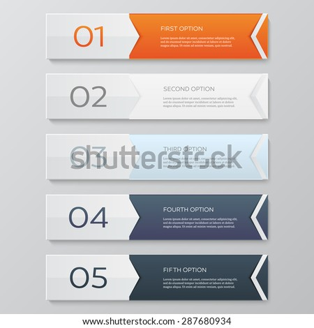 Infographics design template. Business concept with 5 options. - stock vector