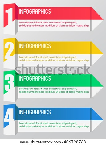 INFOGRAPHICS design the number option on the grey background.Eps 10. Can be used for diagram, banner, number options, workflow layout, step up options or web design. - stock vector