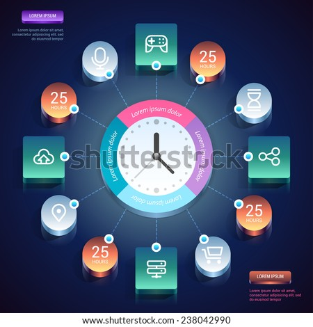 Infographics design. Vector eps 10. - stock vector