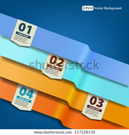 Infographics design Vector Template - stock vector