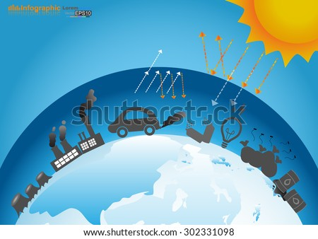 Infographics design with environment in nature 