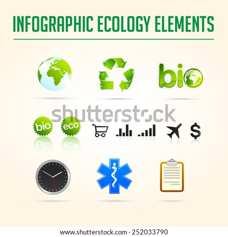 Infographics ecology and business elements chart collection, exclusive, innovative, and creative inspiration design vector for template - stock vector