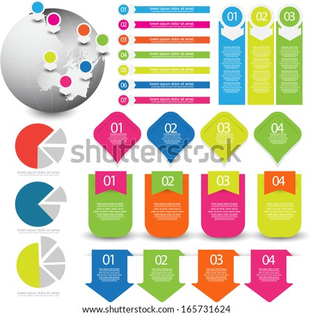 Infographics element set - stock vector