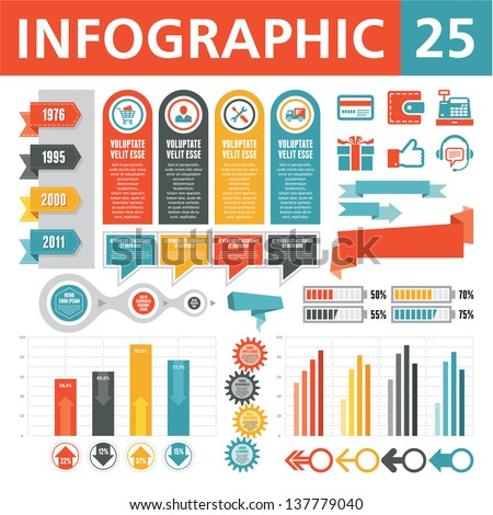 Infographics Elements 25 - stock vector