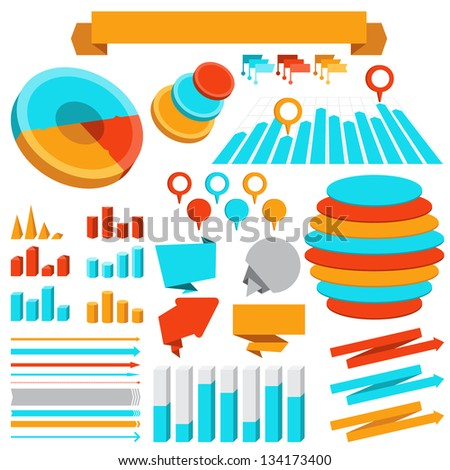 Infographics elements collection. - stock vector
