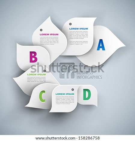 infographics elements 3d abstract background - stock vector