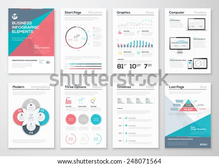 Infographics elements for business brochures and presentations. Ecology concept to visualize environmental concept. Fully editable vector illustration. - stock vector