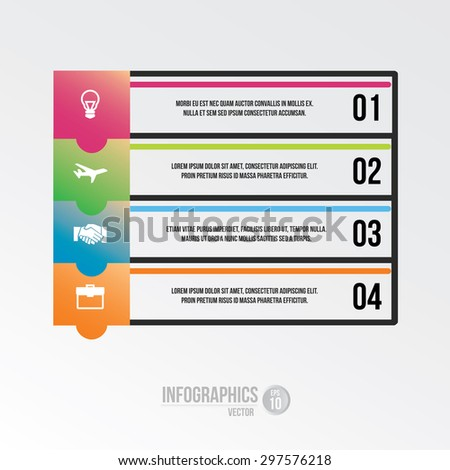 infographics elements in High resolution for layout, banner, number options, step up options, contain EPS10 format with some additional icons.