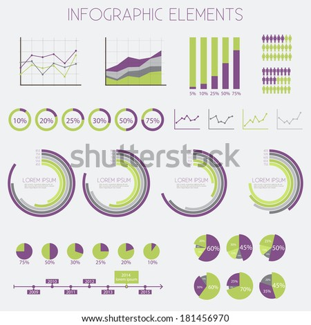 Infographics Elements Set - vector eps10  - stock vector