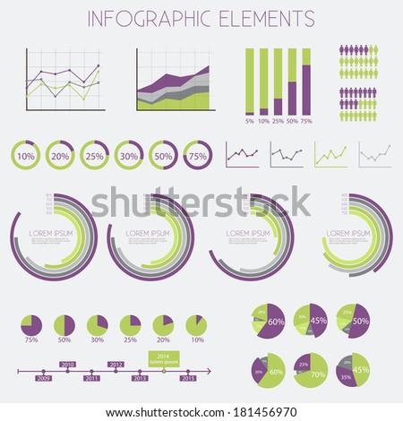 Infographics Elements Set - vector eps10  - stock vector