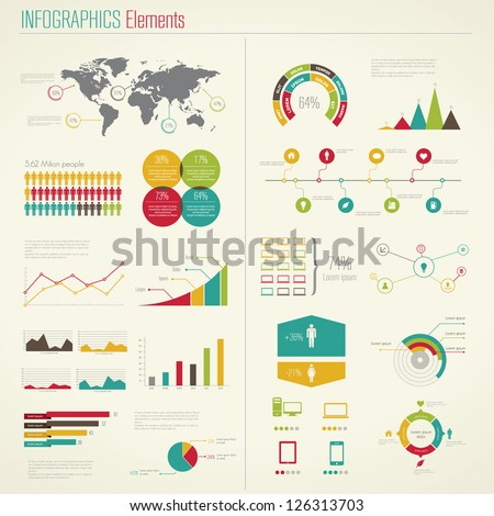 Infographics Elements. Vector Illustration